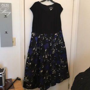 🔥2/$50 Alex evenings dress blue/black